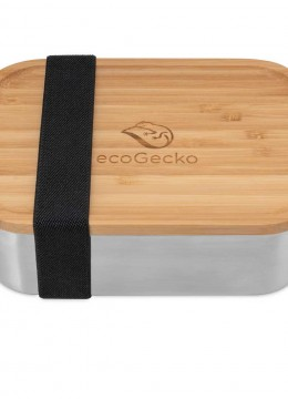ecoGecko lunch box with bamboo lid